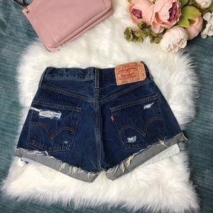 Levi's 501 Vintage Distressed ButtonFly Jean Short
